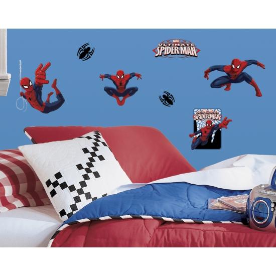 22 muurstickers van Spiderman