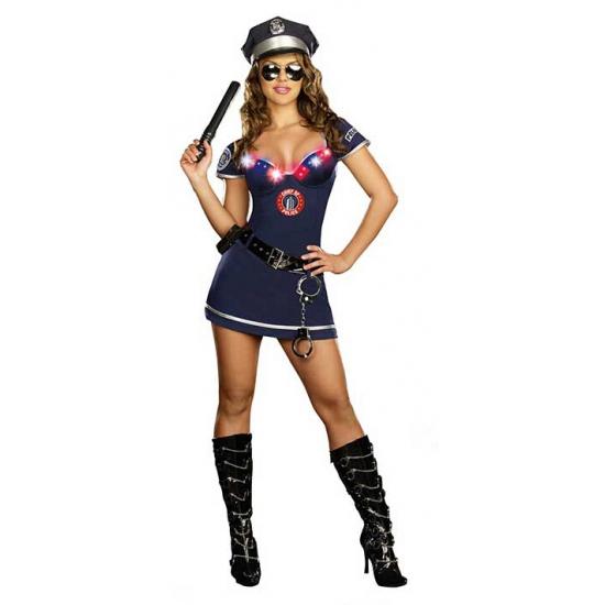 Blauw politie kostuum