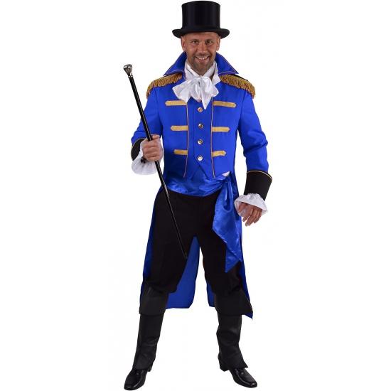 Blauwe baron verkleed jas voor heren