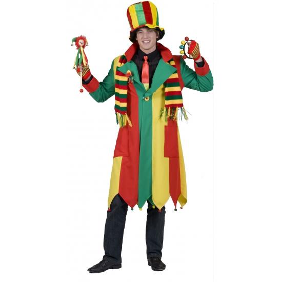 Jas met de carnaval kleuren