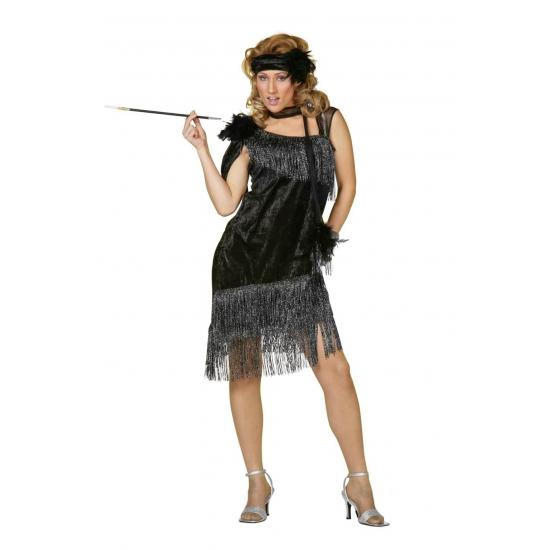 Zwarte roaring twenties jurk